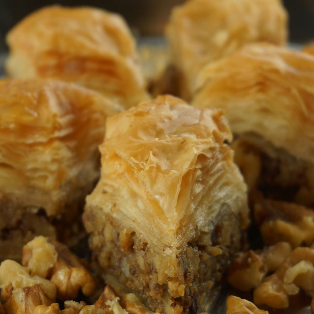Baklava; filo, honey and nuts