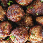 Keftedes - Grecian Meatballs; golden meatballs with the spirit of the Greek islands!