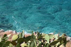 The crystal-clear waters around Spinalonga