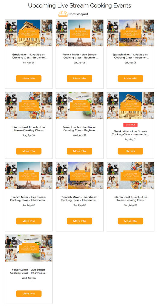 ChefPassport Online Cooking Events click here for the full range of culinary mixers
